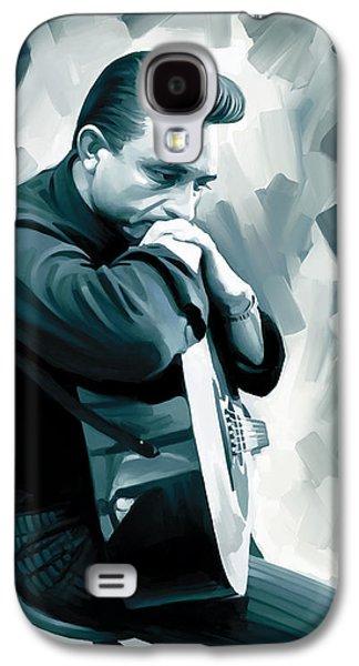 Johnny Cash Artwork 3 Galaxy S4 Case by Sheraz A