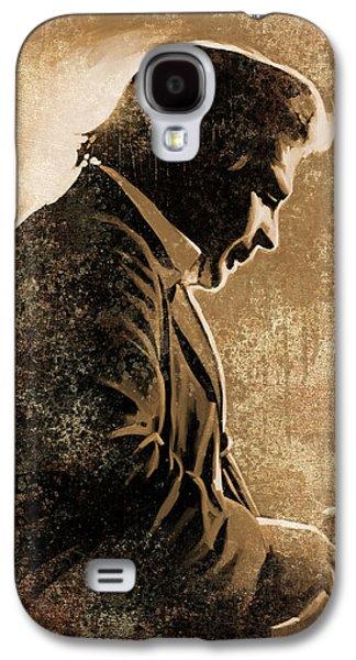 Johnny Cash Artwork Galaxy S4 Case by Sheraz A