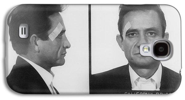 Johnny Cash Folsom Prison Large Canvas Art, Canvas Print, Large Art, Large Wall Decor, Home Decor Galaxy S4 Case by David Millenheft