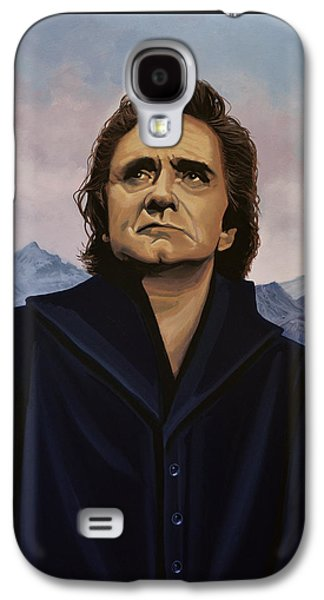 Rock And Roll Galaxy S4 Case - Johnny Cash Painting by Paul Meijering