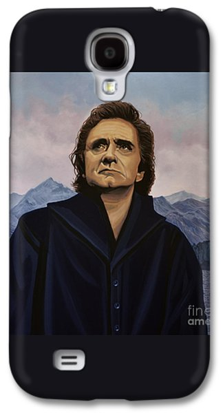 Johnny Cash Painting Galaxy S4 Case by Paul Meijering