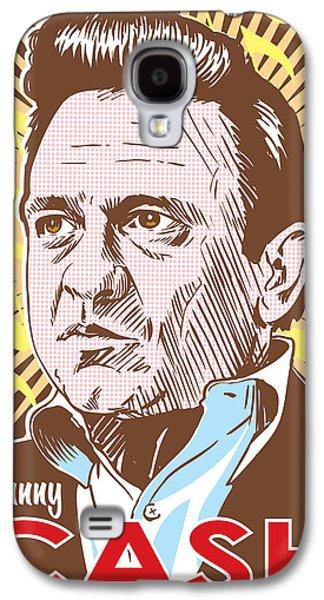 Johnny Cash Pop Art Galaxy S4 Case by Jim Zahniser