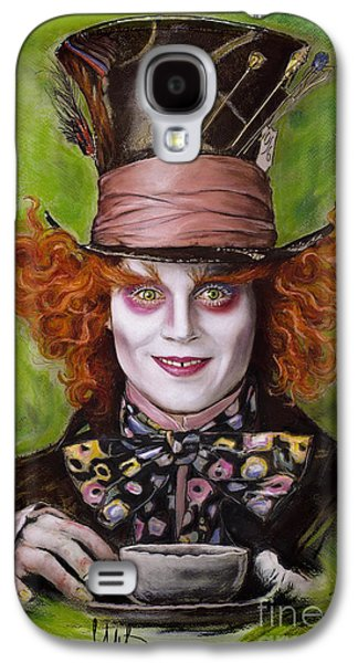 Johnny Depp As Mad Hatter Galaxy S4 Case