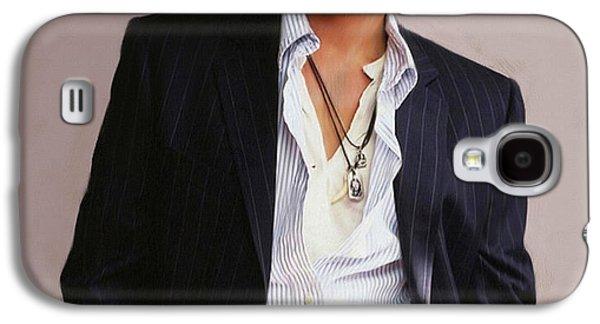 Johnny Depp Galaxy S4 Case by Dominique Amendola