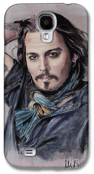 Johnny Depp Galaxy S4 Case by Melanie D