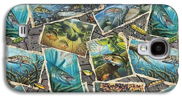 Jon Q Wright Fish Paintings Pillow Galaxy S4 Case by Jon Q Wright