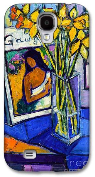 Jonquils And Gauguin Galaxy S4 Case by Mona Edulesco