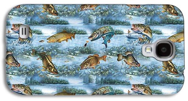Jq Lake Fish Bedding Pillow Galaxy S4 Case by Jon Q Wright