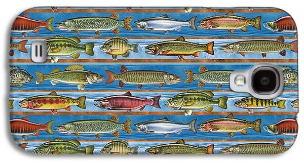 Jqw Fish Row Pillow Galaxy S4 Case by Jon Q Wright