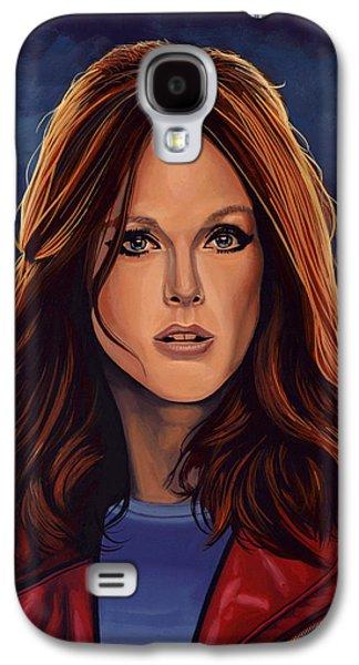 Julianne Moore Galaxy S4 Case by Paul Meijering
