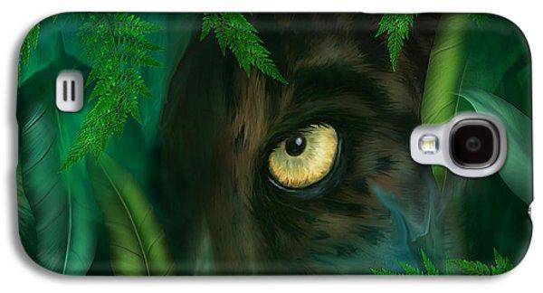 Jungle Eyes - Panther Galaxy S4 Case by Carol Cavalaris