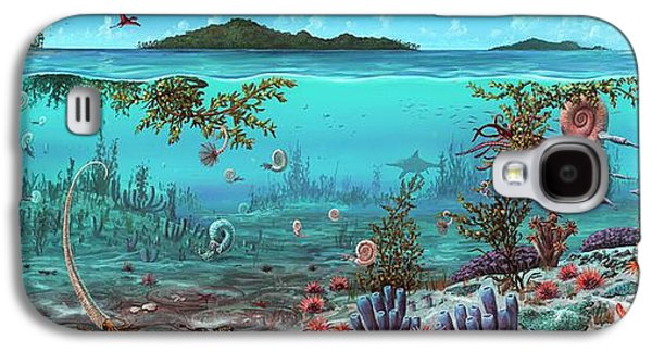 Jurassic Heteromorph Ammonites Galaxy S4 Case by Richard Bizley