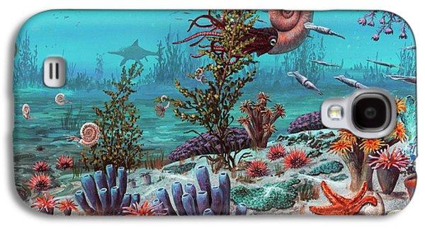 Jurassic Underwater Scene Galaxy S4 Case by Richard Bizley