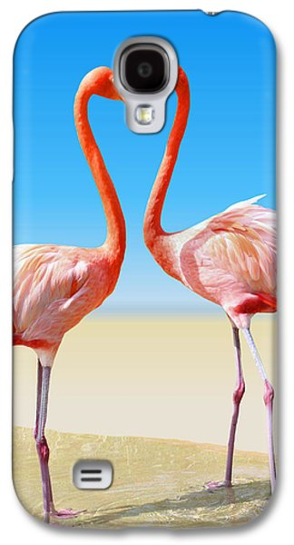 Flamingo Galaxy S4 Case - Just We Two by Kristin Elmquist