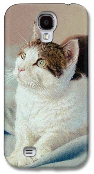 K C  Kitty Cat Galaxy S4 Case by Barbara Groff