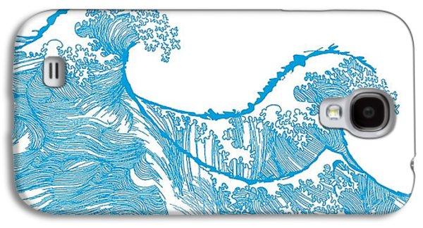 Kanagawa Wave Galaxy S4 Case by Sarah Hough