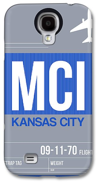 Kansas City Airport Poster 2 Galaxy S4 Case by Naxart Studio