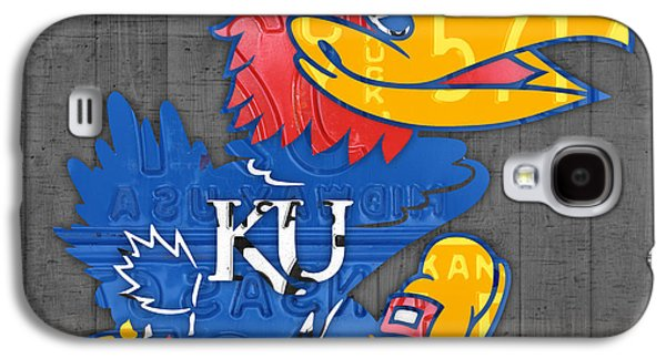 Kansas Jayhawks College Sports Team Retro Vintage Recycled License Plate Art Galaxy S4 Case by Design Turnpike