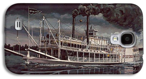 Spread Eagle Steamboat Night Galaxy S4 Case by Don  Langeneckert