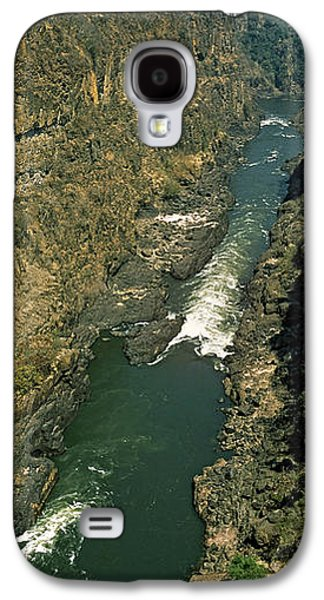 Kayakers Paddle Down The Zambezi Gorge Galaxy S4 Case by Panoramic Images