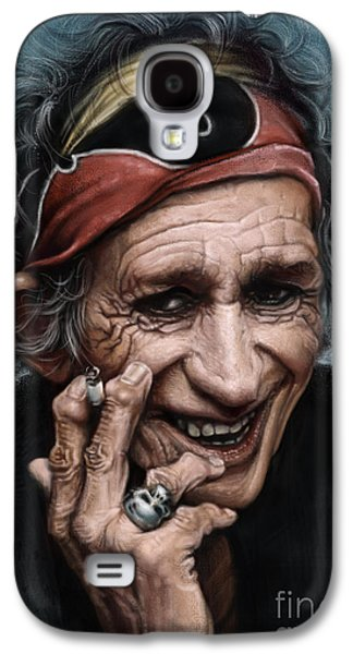 Keith Richards Galaxy S4 Case by Andre Koekemoer