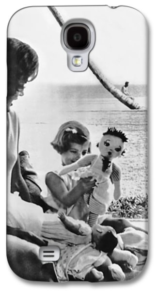 Kennedy Family At Palm Beach Galaxy S4 Case by Underwood Archives