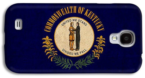 Kentucky State Flag Art On Worn Canvas Galaxy S4 Case by Design Turnpike