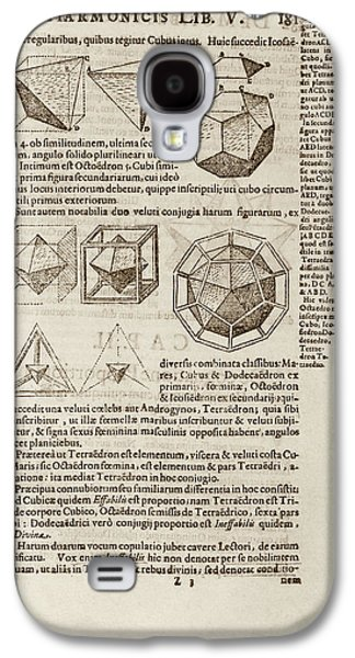 Kepler On Platonic Solids Galaxy S4 Case by Library Of Congress