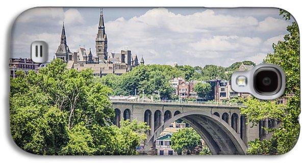 Key Bridge And Georgetown University Galaxy S4 Case by Bradley Clay
