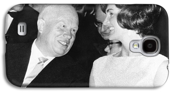 Khrushchev And Jackie Kennedy Galaxy S4 Case by Underwood Archives
