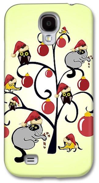 Kids Christmas Galaxy S4 Case by Anastasiya Malakhova