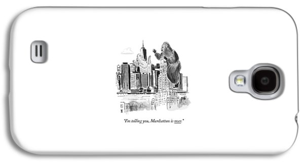 King Kong, Atop The Williamsburgh Savings Bank Galaxy S4 Case by Emily Flake