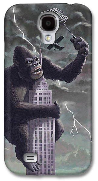 Monkey Galaxy S4 Case - King Kong Plane Swatter by Martin Davey