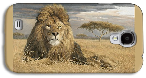 Lion Galaxy S4 Case - King Of The Pride by Lucie Bilodeau