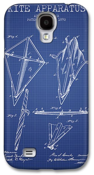 Kite Apparatus Patent From 1892 - Blueprint Galaxy S4 Case by Aged Pixel