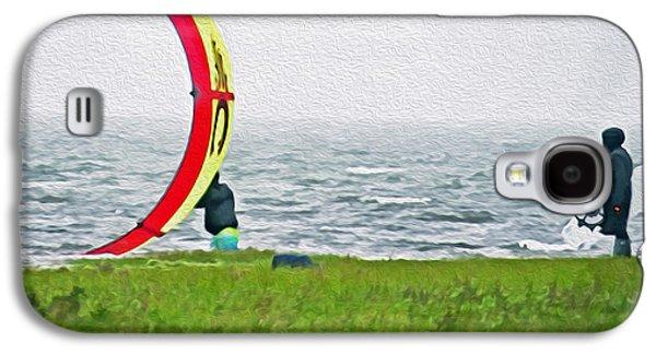 Kite Boarder Galaxy S4 Case by Dawn Gari