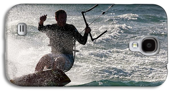 Kite Surfer 01 Galaxy S4 Case by Rick Piper Photography