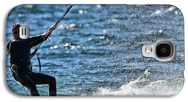Kite Surfing Splash Galaxy S4 Case by Dan Sproul
