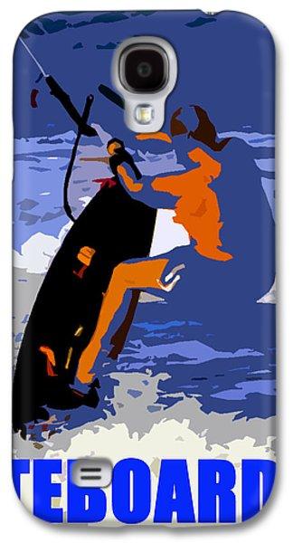 Kiteboarder Blue Smartphone  Galaxy S4 Case by David Lee Thompson