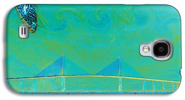 Kiteboarding The Bay Galaxy S4 Case by David Lee Thompson