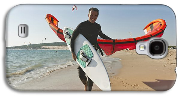 Kitesurfer On The Beach Tarifa Cadiz Galaxy S4 Case by Ben Welsh