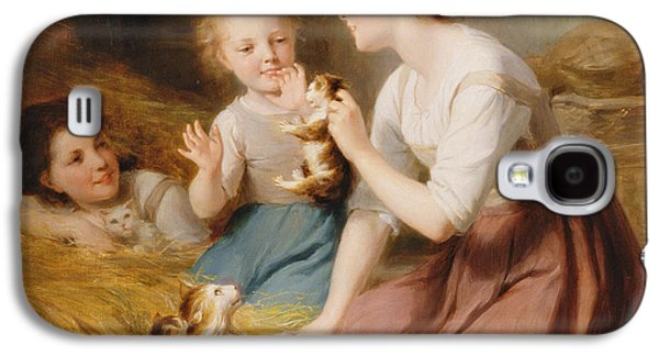 Kittens Galaxy S4 Case by Fritz Zuber-Buhler