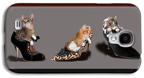 Kittens In Designer Ladies Shoes Galaxy S4 Case by Regina Femrite