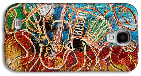 Saxophone Galaxy S4 Case - Klezmer Music Band by Leon Zernitsky