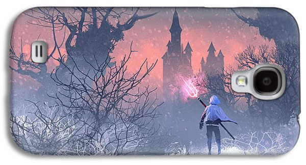 Knight Galaxy S4 Case - Knight With Trident In Winter by Tithi Luadthong