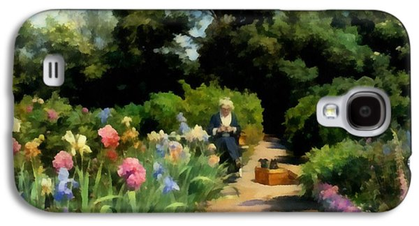Knitting In The Garden Galaxy S4 Case by Peder Mork Monsted