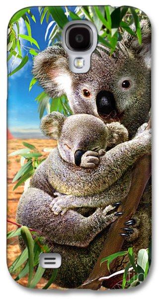Koala And Cub Galaxy S4 Case by Adrian Chesterman