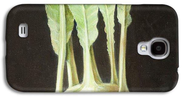 Kohl Rabi, 2012 Acrylic On Canvas Galaxy S4 Case by Lincoln Seligman