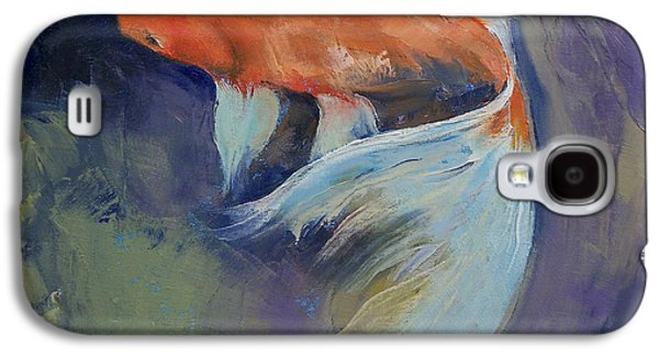 Koi Fish Painting Galaxy S4 Case by Michael Creese