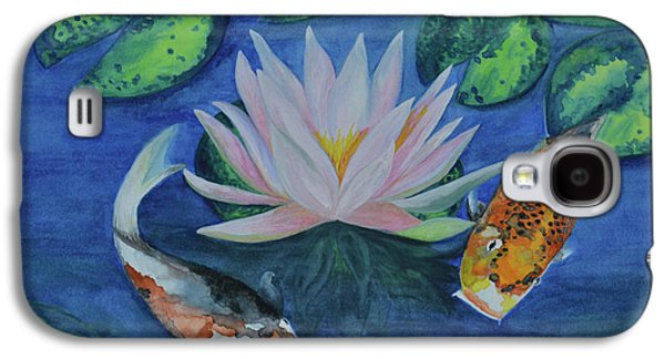 Koi In The Lily Pond Galaxy S4 Case by Suzette Kallen